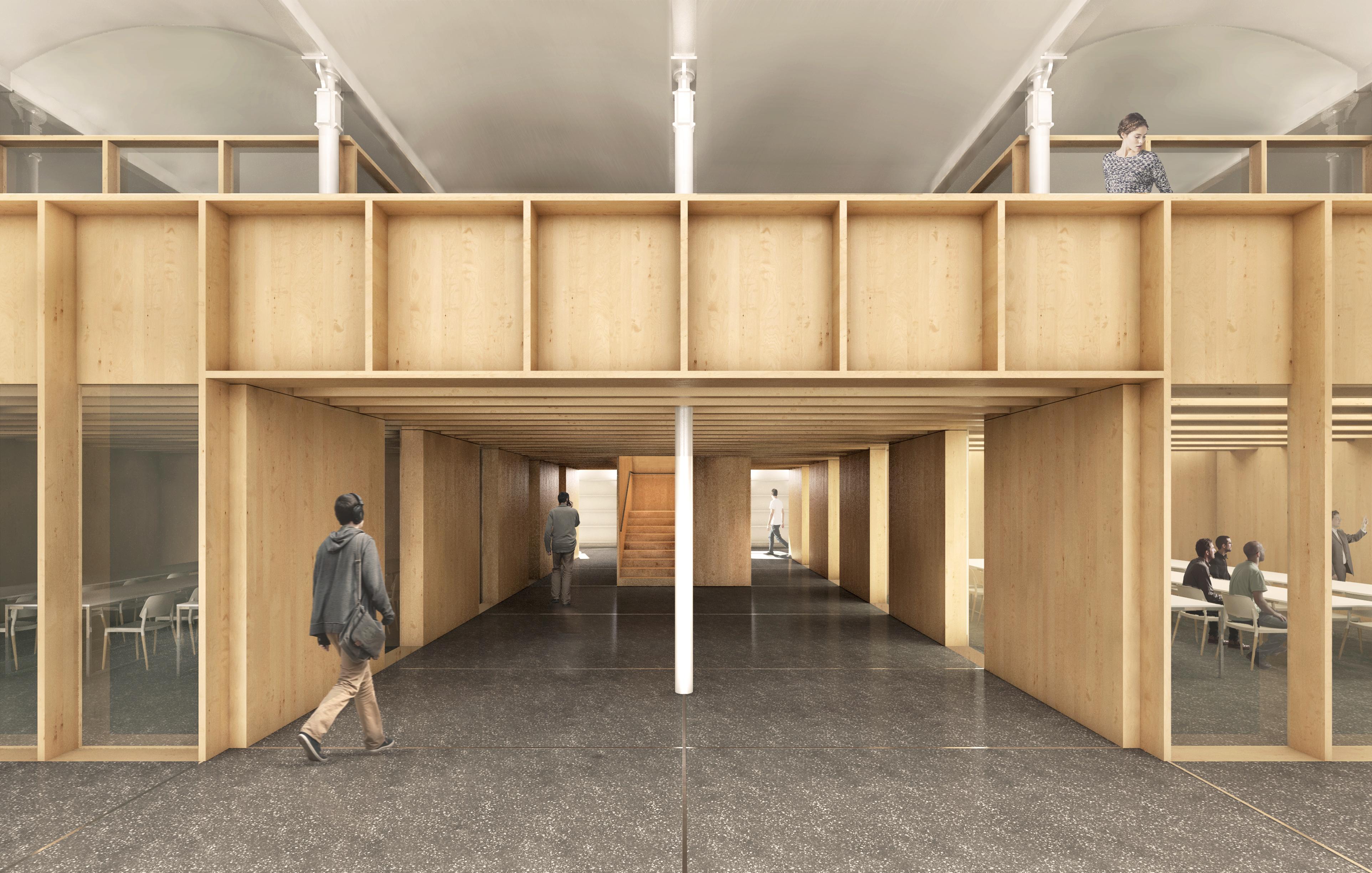 Nou edifici EMAV Can Batlló - Planta Baixa i moble fusta planta superior